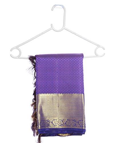 Mandakini — Indian Women's Kanchipuram - Handloom - Pure Silk Saree (Magenta ) (MK241) by Mandakini (Image #5)