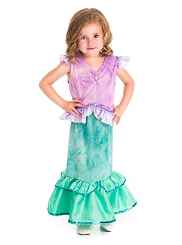 [Little Adventures Traditional Mermaid Princess Girls Costume - Large (5-7 Yrs)] (Mermaid Fairy Costumes)
