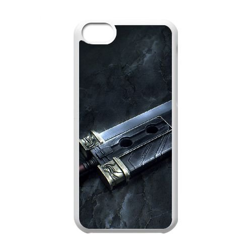 Buster Sword J9N86W7XJ coque iPhone 5c case coque white 27LF4G