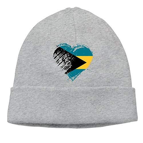 Adult Men's Womens Unisex Grungy I Love Bahamas Heart Flag Dance Wool Cap