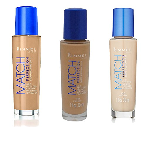 Rimmel Match Perfection Foundation, Classic Ivory, True Ivory and Nude with Dimple Bracelet