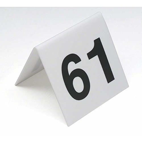 G.E.T. Plastic Black On White Table Number Cards Numbers 26 To 50-3 L x 3'' H by G E T ENTERPRISES LLC