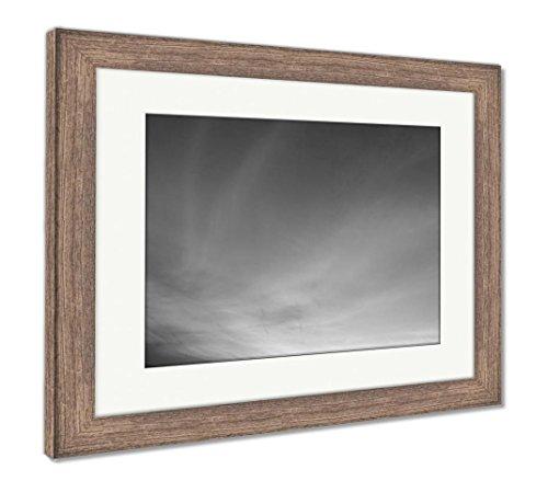 Ashley Framed Prints Sunset In Las Vegas 3, Wall Art Home Decoration, Black/White, 26x30 (frame size), Rustic Barn Wood Frame, AG6429244
