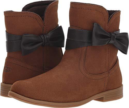 UGG Girls' K Joanie Bow Fashion Boot, Cognac, 1 M US Little -