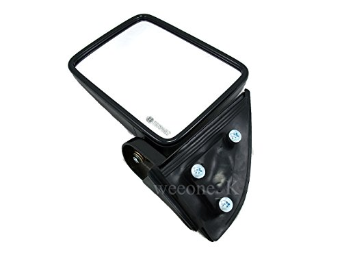 Aftermarket Parts K1AutoParts Left Side Manual Mirror Side Rear View for Mitsubishi L200 Cyclone 1987-1996