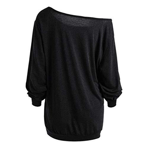 Luk De Avec Astuce T Longues Puffy Citrouille Noir couleur Et Violet Zhrui Cn Halloween Taille Manches 16 À shirt xadX8z8C
