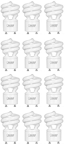 - Feit Electric BPESL13T/GU24 900 Lumen Soft White Mini Twist GU24 CFL, Uses Up To 78% Less Energy, Compact Fluorescent, Average Life Up To 10000 Hours, Pack of 12