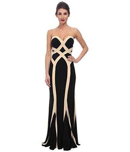 Faviana Women's Jersey Two-Tone Strapless Dress 7571 Black/Nude Dress 00