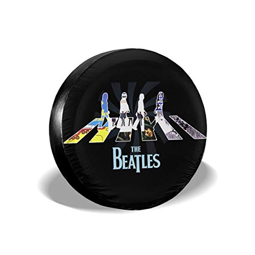 The Beatles Spare Tire Cover Waterproof Dust-Proof Universal Spare Wheel Tire Cover Fit for Jeep,Trailer, RV, SUV and Many Vehicle 14
