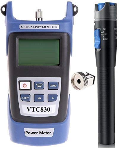 Techtest Ftth Fiber Optical Power Meter -50 to +20 Optic Cable Tester Network Fc Sc Interfaces for Catv Test Maintenance…