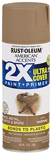 Rust-Oleum 327917-6 PK American Accents Spray Paint, Satin - Paint Tan Spray