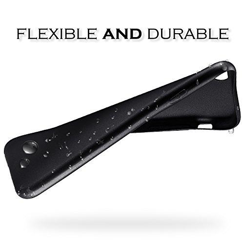 iPhone 7 / iPhone 8 Funda,SLEO [Serie guardia] Ultra Delgado Suave Flexible TPU Funda de silicona para iPhone 7 / iPhone 8 -negro Negro