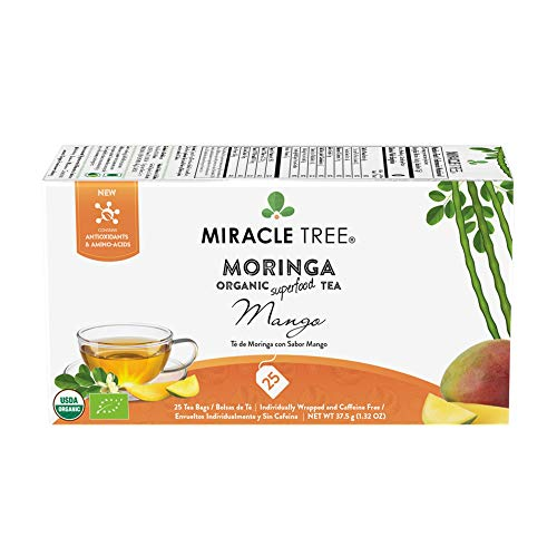 The Best Miracle Tea Moringa Organic Tea Mango