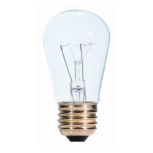 Bulbrite 701111 - 11S14C - 11 Watt S14 Clear Sign Bulb, 40 Bulbs