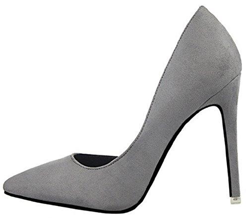Gris 8 Escarpins Femmes Hooh 952 Stiletto Toe D'orsay Pointed O0Hqcp8q