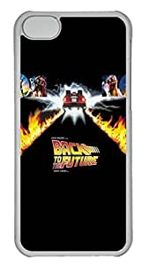 Back To The Future Poster Polycarbonate Hard Case Cover for iPhone 5C Transparent