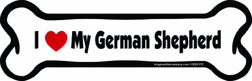 (Imagine This Bone Car Magnet, I Love My German Shepherd, 2-Inch by 7-Inch)