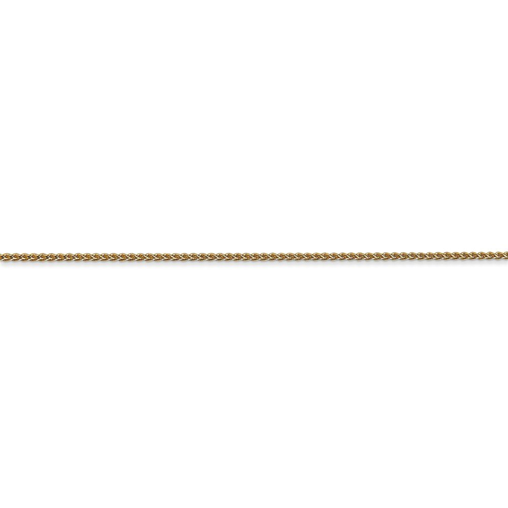 ICE CARATS 14k Yellow Gold 1mm Solid Spiga Chain Necklace 24 Inch Wheat Fine Jewelry Gift Set For Women Heart by ICE CARATS (Image #5)
