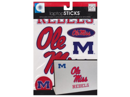 (me & my BIG ideas laptopSTICKS Removable Laptop Stickers, Mississippi (Ole Miss) Rebels)