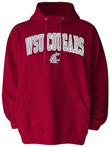 Old Varsity Brand NCAA Washington State Cougars Men's Big Pullover Hoodie, 4X-Large, Crimson (Hoodie Ncaa Pullover)