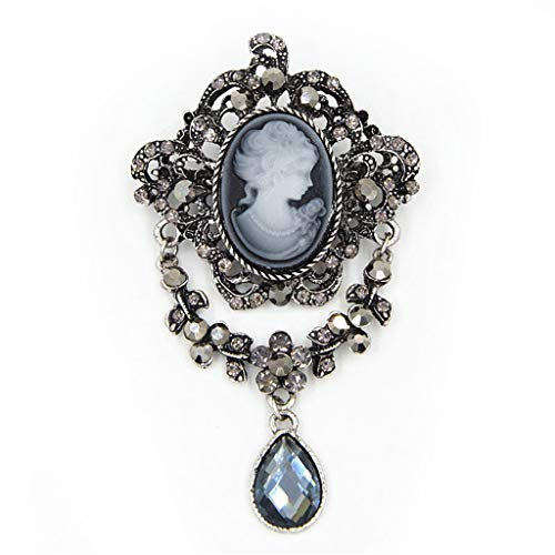Lady Vintage Cameo Victorian Style Wedding Party Pendant Brooch Pin Gift