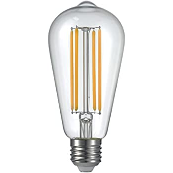 lightstory dimmable led edison bulb e26 vintage st18 2200k 4w40w clear decorative led