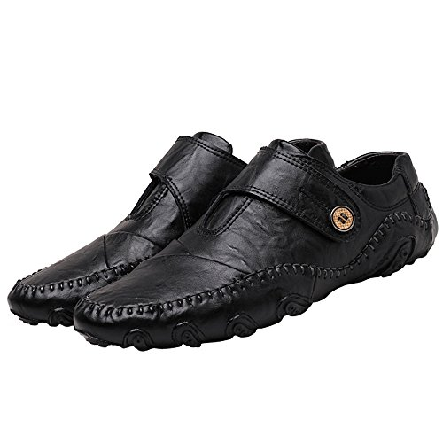 Cemarssi Men's Octopus Comfort Driving Car Soft Flats Loafers Casual Boat Shoes (10 D(M) US, Black)