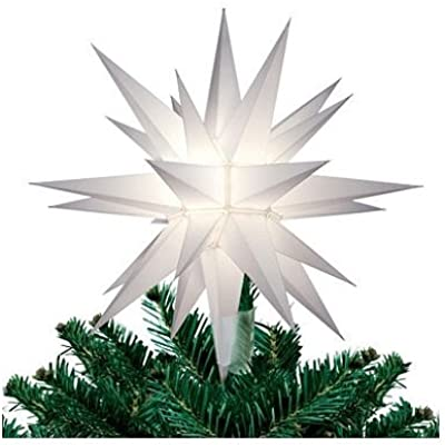 12 In. Lighted Holiday Star Tree Topper, for Indoor and Outdoor Use