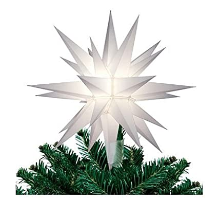 12 in lighted holiday star tree topper for indoor and outdoor use