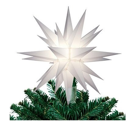 12 In. Lighted Holiday Star Tree Topper, for Indoor and Outdoor Use ()