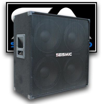 Cabinet 4x12 Guitar Speaker (Seismic Audio - 412 GUITAR SPEAKER CABINET - 4x12 400 Watts PA/DJ PRO AUDIO)