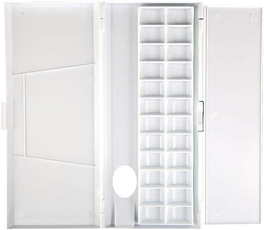 WINBST Palet de plástico con Tapa y Compartimentos Caja de Paleta ...