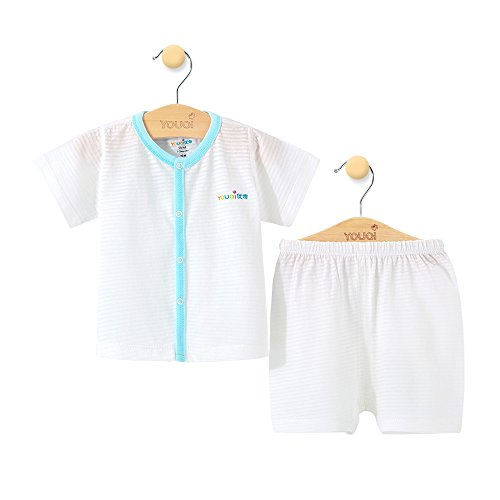 YOUQI Baby Clothes Summer Boy Clothing Sets Girl Top Pants Suit Short Sleeve Cotton Costumes