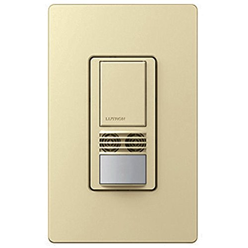 Lutron MS-B102-V-IV Motion Sensor, 120V/277V Single-Pole Maestro Vacancy Sensor Switch - Ivory
