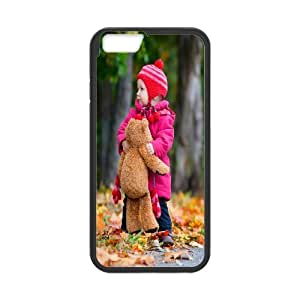 Iphone 6 Plus Case, baby girl autumn Case for Iphone 6 Plus 5.5 screen Black tcj569924 tomchasejerry