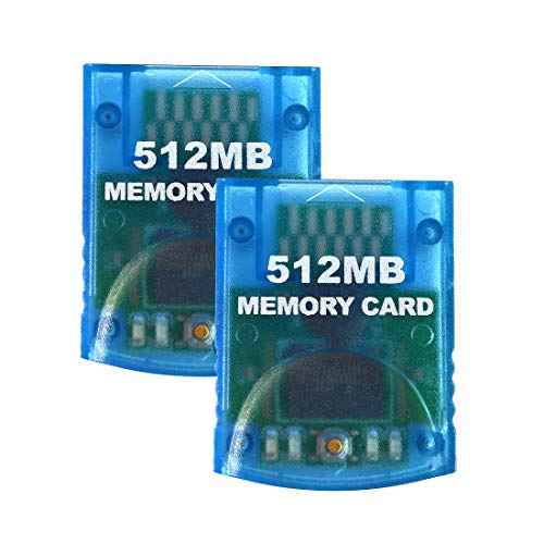 Aoyoho 2 Packs Memory Card 512MB Gaming Memory Card Compatible for Wii and Gamecube (Best Memory Card For Wii)