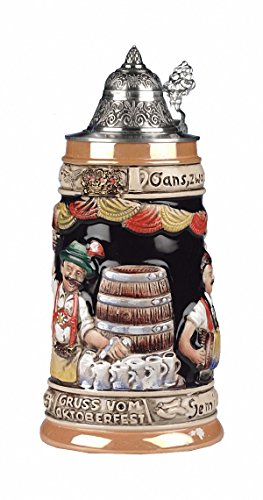 Oktoberfest Germany LE German Beer Stein .5L Mug by ISDD Cuckoo Clocks