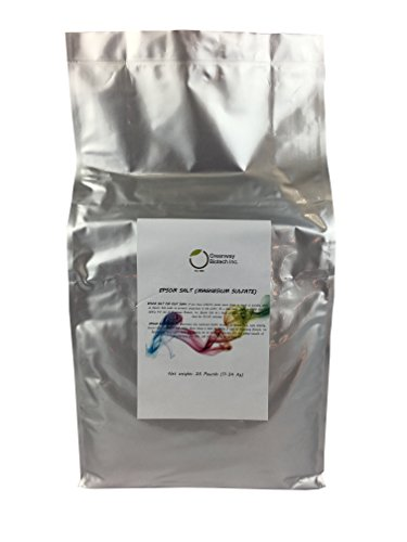 "Epsom Salt 25 Pounds (Magnesium Sulfate) ""Greenway Biotech Brand"""
