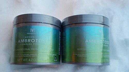 Lots of 2 Mannatech Advanced Ambrotose 120g Powder by Advanced Ambrotose 120g Powder