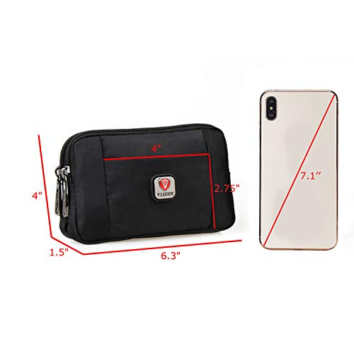 VIIGER Holsters Multipurpose Horizontal Smartphone Pouch Cell Phone Belt Pouches