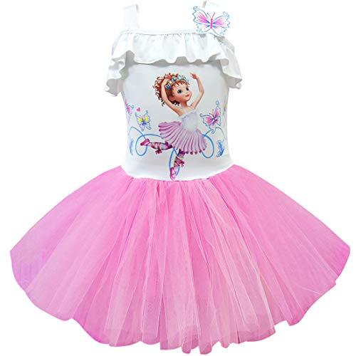 Thombase Baby Meisje Fancy Cartoon Print Vlinder Ballet Jurk