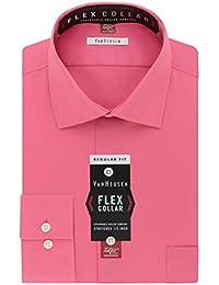 Men's Flex Collar Regular Fit Solid Spread Collar Dress Shirt