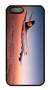 unique cases lufthansa boing airliner PC Black Case for iphone 5/5S