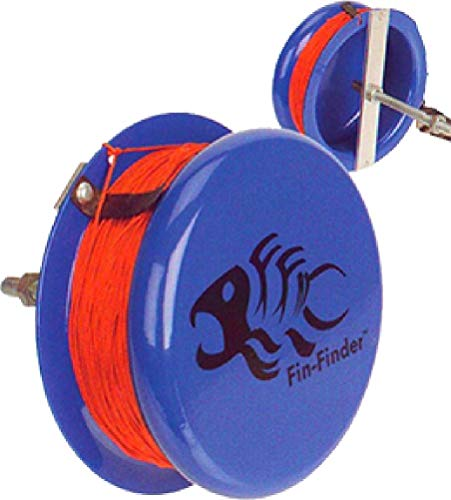 Fin-Finder Heavy Duty Drum Reel, Blue