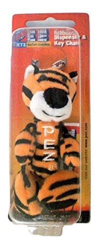 Pez Petz Safari Babies Plush Candy Dispenser Key Chain Tiger