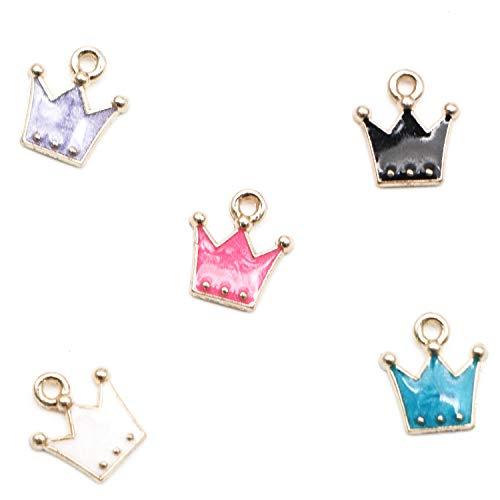 - JETEHO 30 Pcs Alloy Crown Shape Charms Pendants for Making Bracelet Necklace or Zipper Pendant
