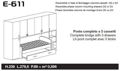 Istruzioni Montaggio Cameretta Ponte.Sconosciuto Cameretta Armadio Ponte 2 Colonne Con Divano