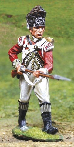 American Revolutionary War British 5th Regiment Foot Grenadier Advancing The Collectors Showcase Toy Soldiers Painted Metal Figure 54mm CS00836 Britains Thomas Gunn King and Country Type