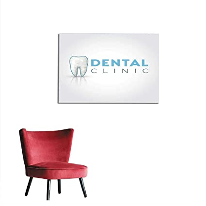 Amazon.com homehot Poster Wall Decor Icon for Dental Clinic