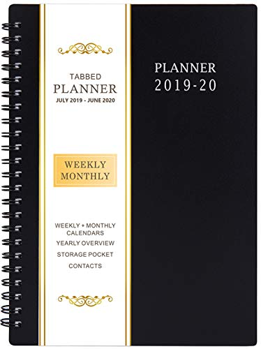 2019-2020 Academic Planner - Weekly & Monthly Planner, Flexible Cover, 12 Monthly Tabs, 21 Notes Pages, 6.25